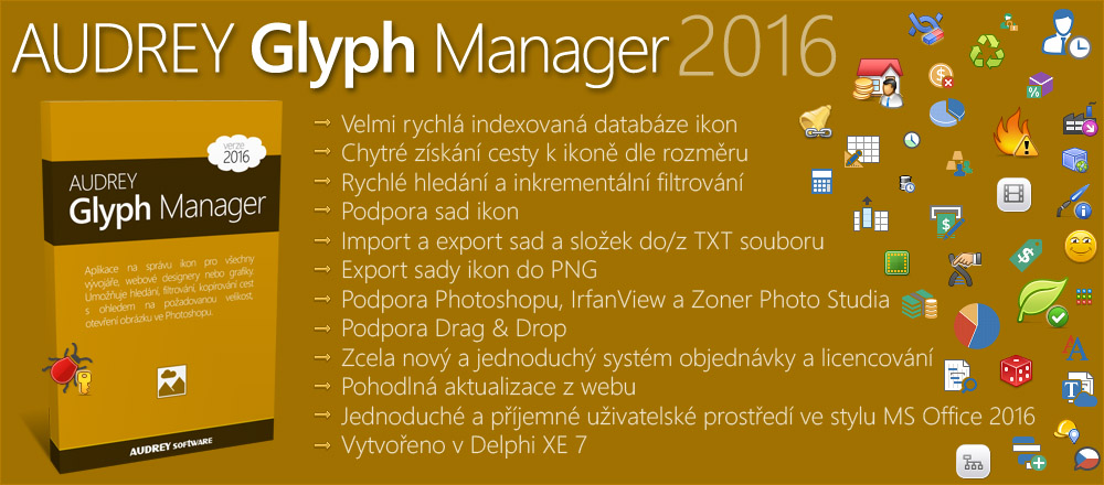 AUDREY Glyph Manager 2016 (FREEWARE)